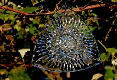 Triangle Shimmering Hobstar Suncatcher