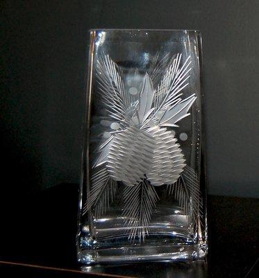 Holiday Pinecone Vase