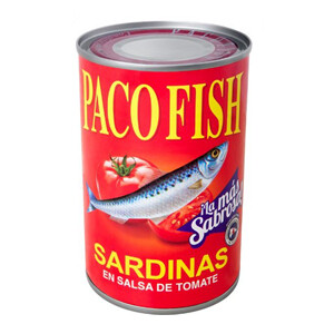 Sardina Paco Fish en Salsa de Tomate 15 Onz