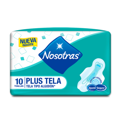 Toalla Sanitaria Nosotras Plus Tela Tipo Algodon 10/1