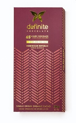 Chocolate Finca Elvesia 65% Cafe y Sal Marina