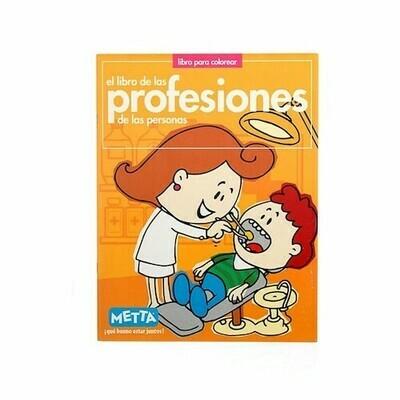 Gente: Profesiones, libro de cuentos y colorear