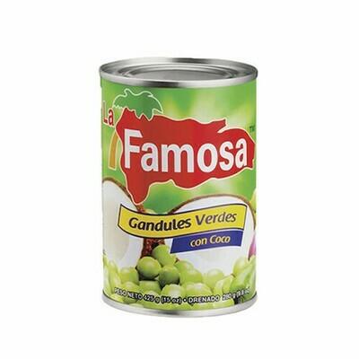 Guandules con Coco La Famosa 15 Onz