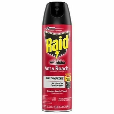Insecticida Raid Cucarachas y Hormigas 12 Onz