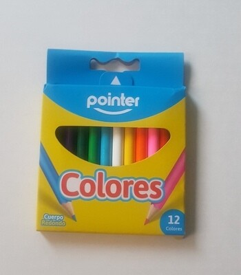 Lapices de Colores Cortos Pointer 12/1