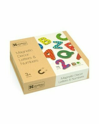 Magnetic Decor Letters & Numbers 75 Pieces (Imanes Letras y Numeros - 75 Piezas)