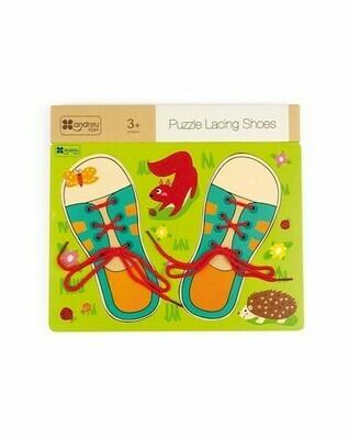 Puzzle - Lacing Shoes (Rompecabezas Amarrando los Cordones)