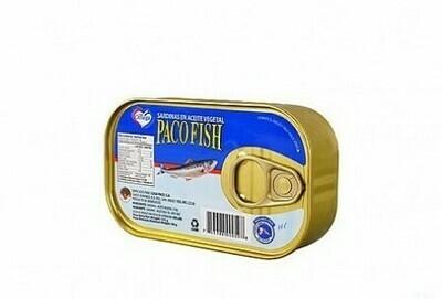 Sardina Paco Fish en Aceite Vegetal 125G