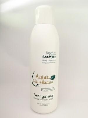 Shampoo Nutritivo Sellador Argan Macadamia Morganna 33.8 Onz