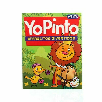 Yo Pinto: Animalitos divertidos, libro de cuentos y colorear