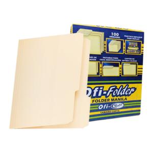 """Folder Manila 8 1/2"""" x 11"""" 100/1"""