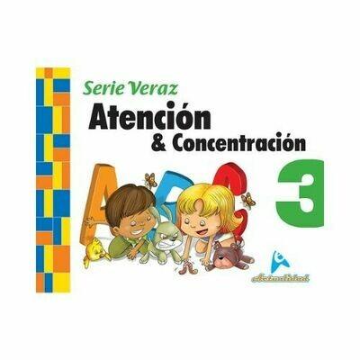 Atencion y Concentracion 3. Serie Veraz. Nivel Inicial. Actualidad