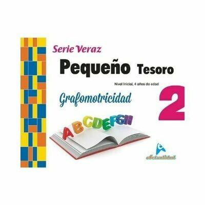 Grafomotricidad Pequeño Tesoro 2. Serie Veraz. Nivel Inicial. Actualidad