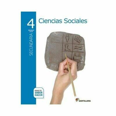 Pack Ciencias Sociales 4. Secundaria. Serie Saber Hacer. Santillana