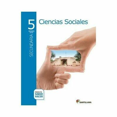 Pack Ciencias Sociales 5. Secundaria. Serie Saber Hacer. Santillana