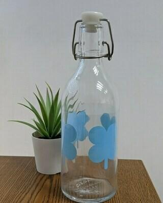 Botella de Vidrio con Tapon Plastico 16 Onz