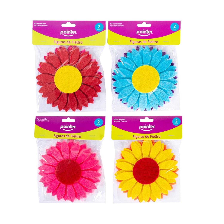 Flores Fieltro Colores Surtidos 2/1 Pointer