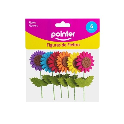 Mini Flores de Fieltro 6/1 Pointer