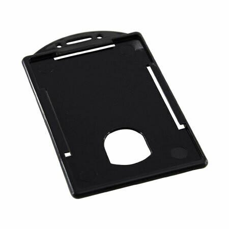 "Porta Carnet Vertical Plastico Negro 2 1/4"" x 3 1/2"""