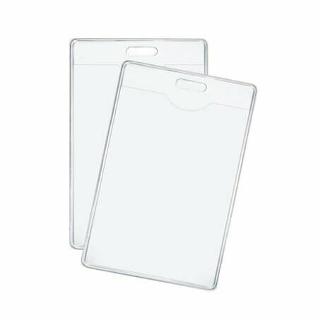 """Porta Carnet Vertical Plastico Transparente 2"""" x 4"""""""