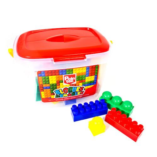 Juego Bloques 45 Piezas C/Cubo Pointer