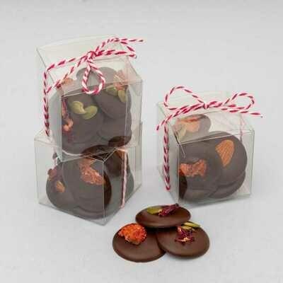 Cajita de Mendiants Chocolate negro, 8 unidades