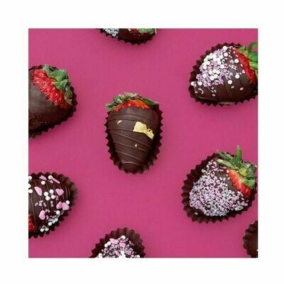 Fresas revestidas de chocolate, 12 unidades