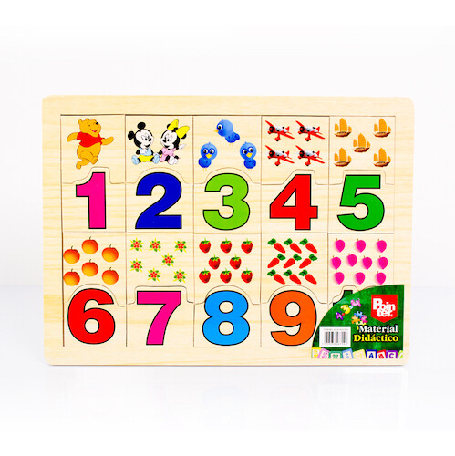 Juego Educativo Madera Numeros Pointer