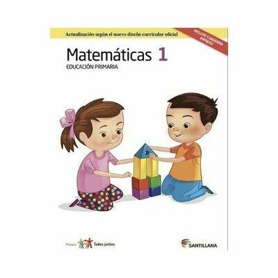 Pack Matematicas 1. Primaria. Serie Todos Juntos 2017. Santillana