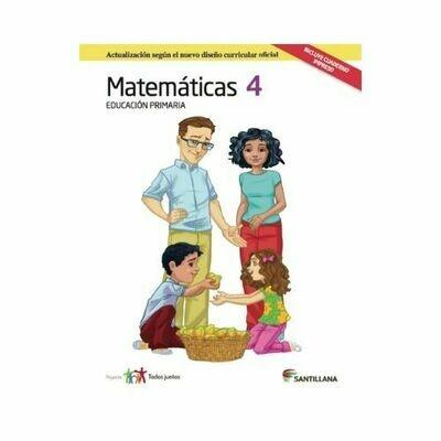 Pack Matematicas 4. Primaria. Serie Todos Juntos 2017. Santillana