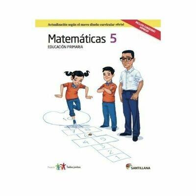 Pack Matematicas 5. Primaria. Serie Todos Juntos 2017. Santillana