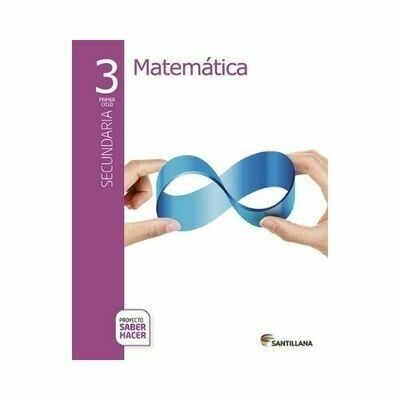 Pack Matematicas 3. Secundaria. Serie Saber Hacer. Santillana