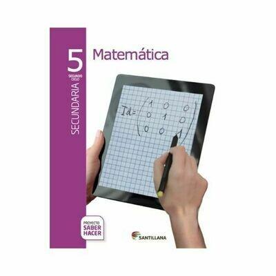 Pack Matematicas 5. Secundaria. Serie Saber Hacer. Santillana