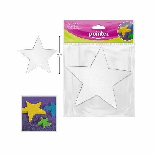 Estrella en Foam 22 CM Pointer Color Blanco