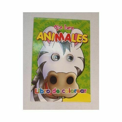 Ojos Locos Animales. Colección Libro de Colorear