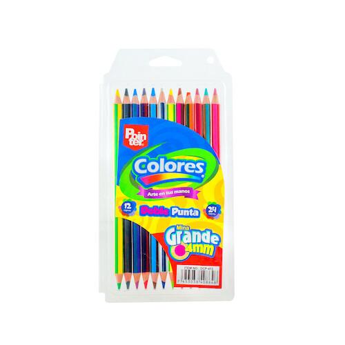 Lapices de Colores Largos Doble Punta 12/1 Pointer