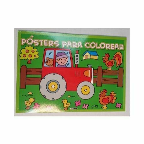 Tractor. Posters para Colorear