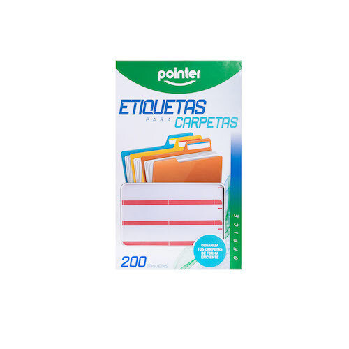 Etiqueta para Folder Roja Pointer