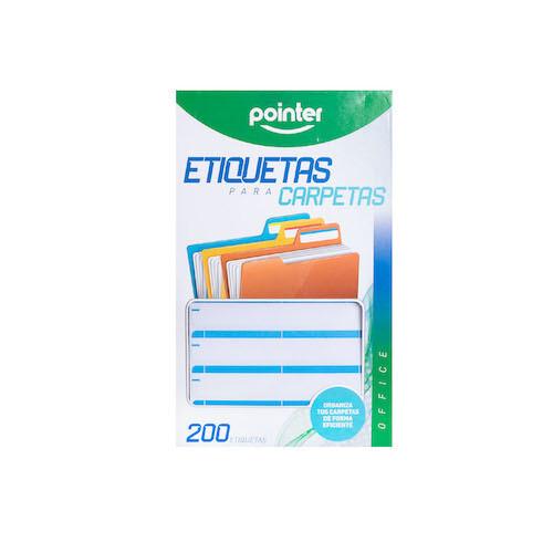 Etiqueta para Folder Azul Claro Pointer