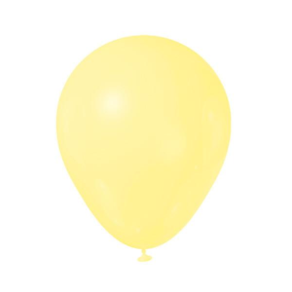Globos Latex #12 Amarillo Pastel 50/1