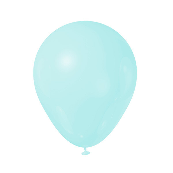 Globos Latex #12 Azul Tiffany Pastel 50/1