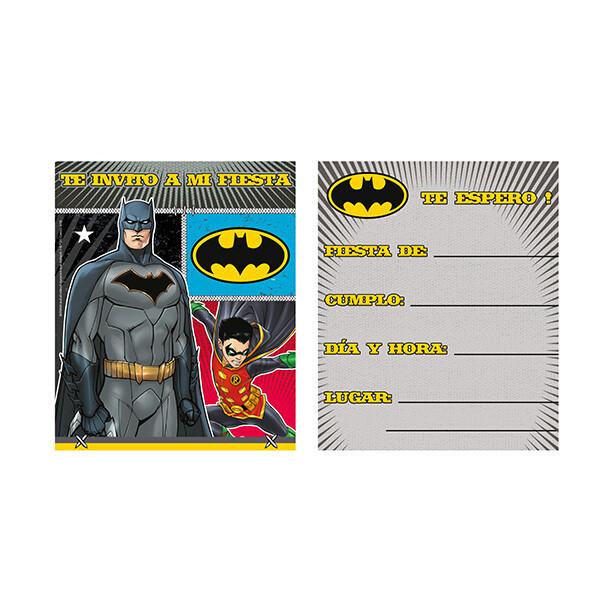 Invitaciones Batman 6/1