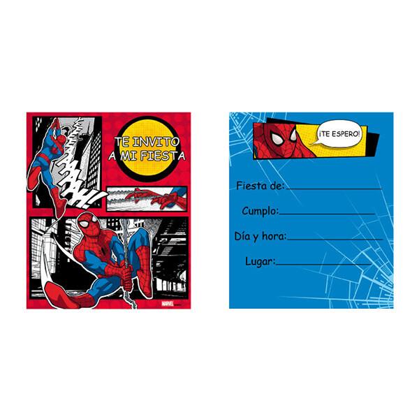 Invitaciones Spiderman 6/1