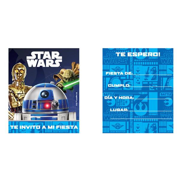 Invitaciones Star Wars 6/1