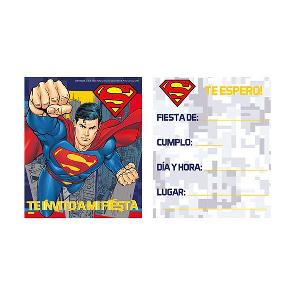 Invitaciones Superman 6/1