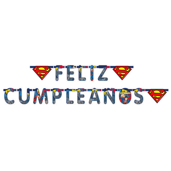 Letrero Feliz Cumpleaños Superman