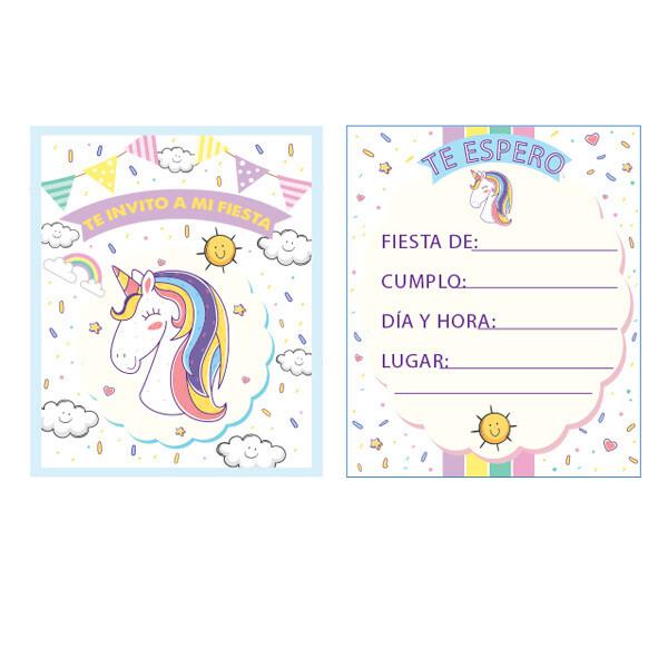 Invitaciones Unicornio 10/1