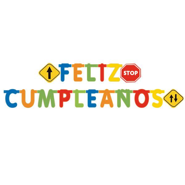 Letrero Feliz Cumpleaños Carros