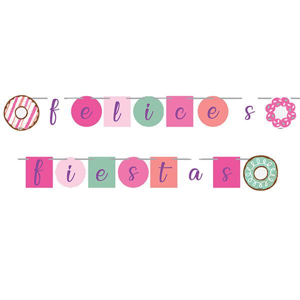 Letrero Felices Fiestas Flamenco