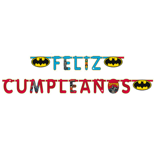 Letrero Feliz Cumpleaños Batman